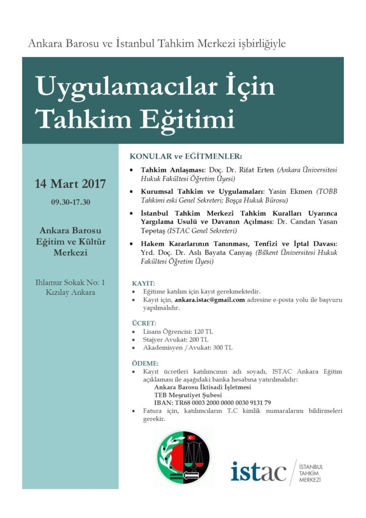 ISTAC Ankara Egitim 14.03.2017